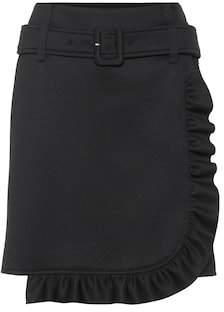 Prada Jersey ruffled miniskirt