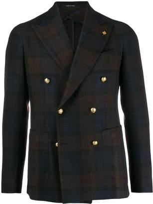 Tagliatore tartan double-breasted jacket