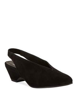 Eileen Fisher Gatwick Suede Slingback Pumps