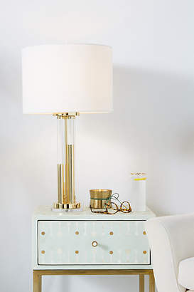 Anthropologie Bettany Lucite Lamp Emsemble