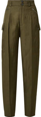 Tom Ford Woven Tapered Pants - Army green