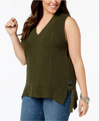 871d3adcc2 ... 525 America Plus Size Sleeveless Tunic Sweater