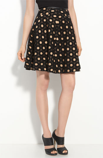 Mcginn 'Nikki' Polka Dot Lace Skirt