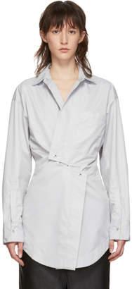 Markoo Grey Snap-Front Shirt