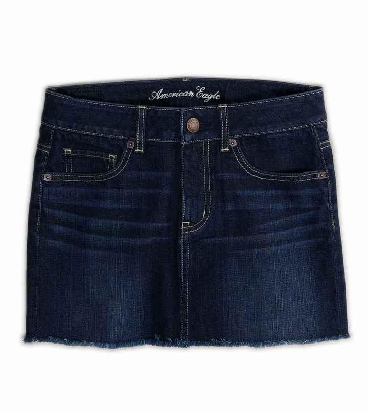 American Eagle AE Dark Denim Mini Skirt