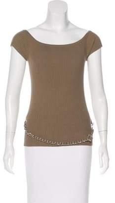 Michael Kors Bateau Neck Short Sleeve Top