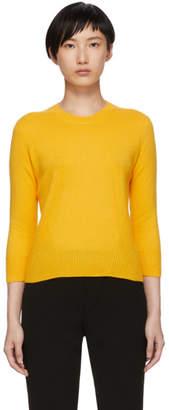 Bottega Veneta Yellow Cashmere Crewneck Sweater