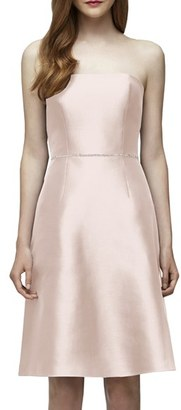 Women's Lela Rose Bridesmaid Embellished Waist Strapless Dress $220 thestylecure.com