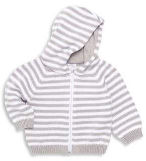 Kissy Kissy Baby's Striped Zip-Front Hoodie
