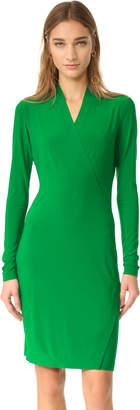 Norma Kamali Kamali Kulture Long Sleeve Side Drape Dress $150 thestylecure.com