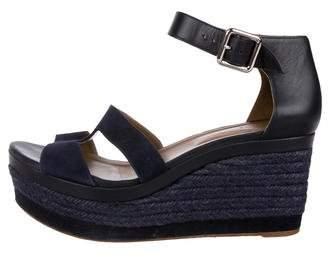Hermes Suede Platform Sandals