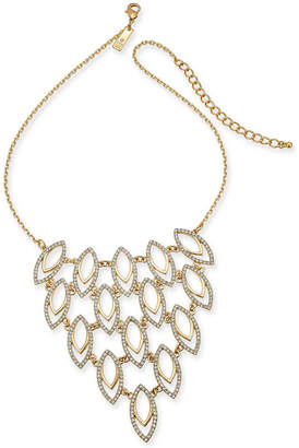 """INC International Concepts I.n.c. Gold-Tone Pave Navette Statement Necklace, 18"""" + 3"""" extender, Created for Macy's"""