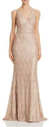 Aqua Sequined Mermaid Gown - 100% Exclusive