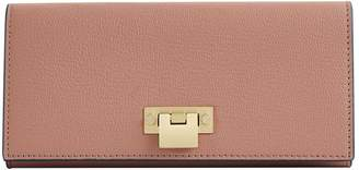 Reiss PARKER LEATHER LOCK CLOSURE WALLET Rosewood