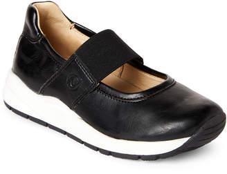 Naturino Kids Girls) Black & White Leather Mary Jane Sneakers