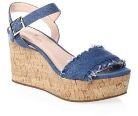Kate Spade Tomas Denim Wedge Sandals