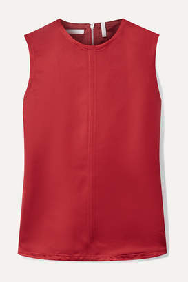 Helmut Lang Open-back Satin-twill Top - Red