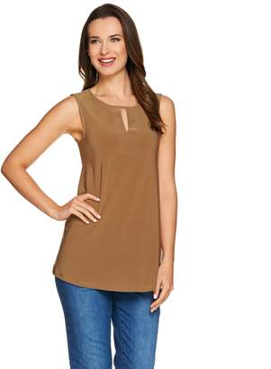 Women With Control Attitudes by Renee Sleeveless Knit Top with Keyhole Detail