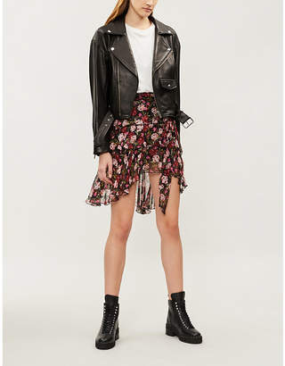 The Kooples Cropped leather biker jacket