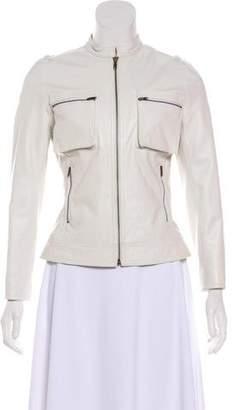 Tracy Reese Leather Moto Jacket