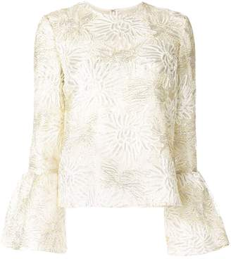 Huishan Zhang Silvie floral embroidery blouse