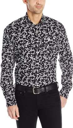 Cinch Men's Classic Fit Long Sleeve Button Down Floral Print Shirt