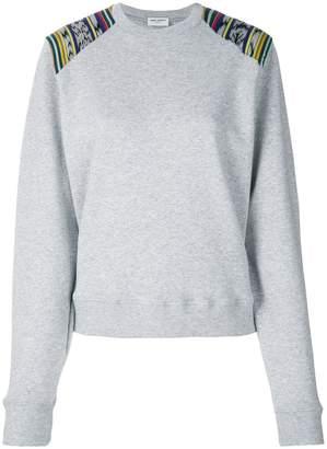 Saint Laurent contrast panel sweatshirt