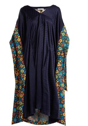 Balenciaga V-neck floral-print dress