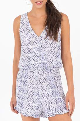 Others Follow Printed Romper Orchid