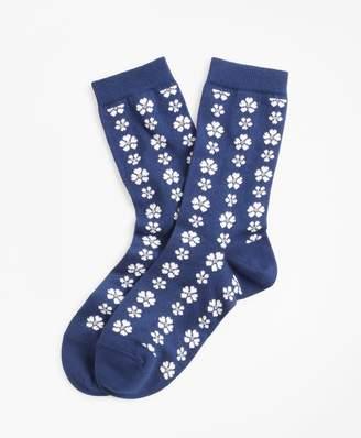 Brooks Brothers Floral-Patterned Socks