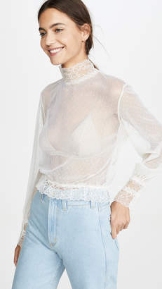SABLYN Amber Sheer Blouse