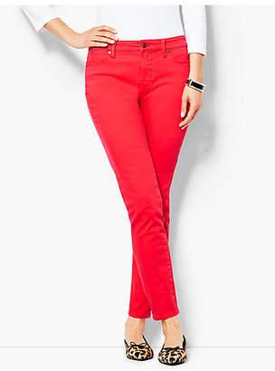 Talbots Garment-Dyed Slim Ankle Jean - Bright Apple