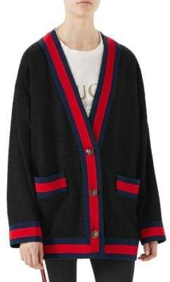 Gucci Tweed Oversized Cardigan