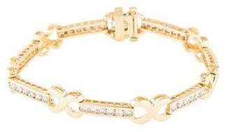 Bracelet 14K Diamond X Link Bracelet