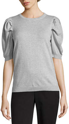WORTHINGTON Worthington Elbow Sleeve Crew Neck Pullover Sweater