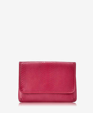 GiGi New York Elisa Clutch, Almond Embossed Python