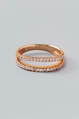 francesca's Scarlett Open Pave Rose Gold Ring - Rose/Gold