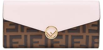 Fendi Calfskin Leather Continental Wallet