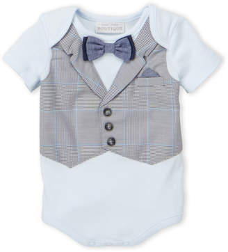 Koala Baby Newborn Boys) Light Blue Vested Bodysuit