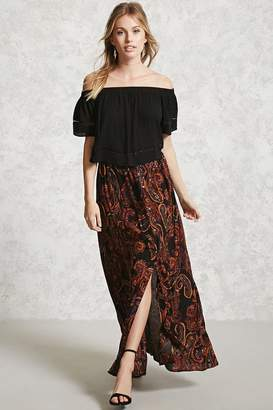Forever 21 Contemporary Paisley Maxi Skirt
