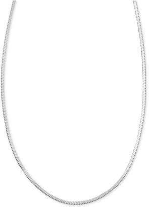 """Giani Bernini Sterling Silver Necklace, 16"""" Square Snake Chain"""