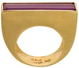 Katerina Makriyianni Ruby Baguette ring