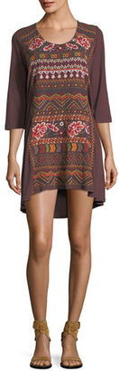 Johnny Was Waleska Embroidered Tunic $155 thestylecure.com