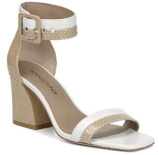 Donald J Pliner Women's Watson Color-Block Leather Block Heel Sandals
