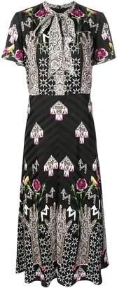 Temperley London geometric print dress