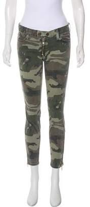 Elizabeth and James Textiles x Camouflage Low-Rise Jeans