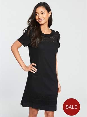 Very Linen Tunic Dress - Black/White