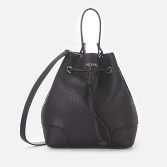 At Mybag Furla Women S Stacy Small Drawstring Bag Onyx
