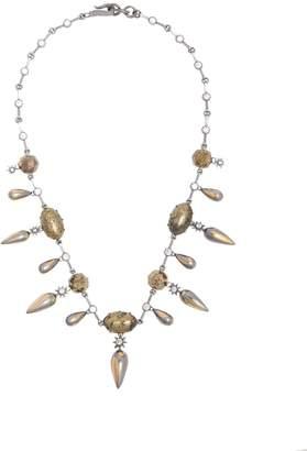 Bottega Veneta Stellular chalcopyrite and cubic-zirconia necklace