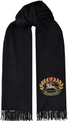 Burberry Cashmere Archive Logo Scarf